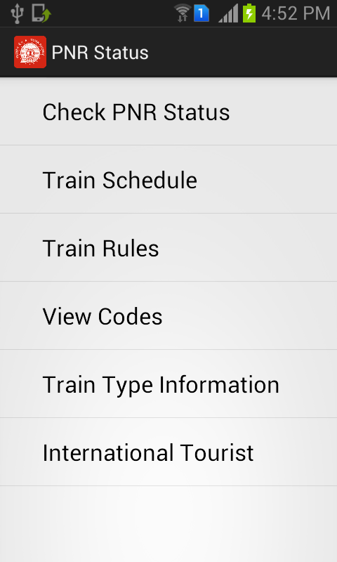 PNR Status - Indian Railway - screenshot