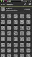 Screenshot of GreyS GO Launcher EX theme