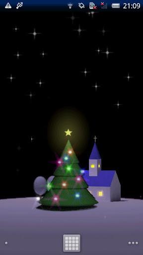 きらきら光るクリスマスツリーライブ壁紙