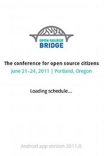 Open Source Bridge Schedule - screenshot thumbnail