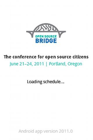 Open Source Bridge Schedule - screenshot