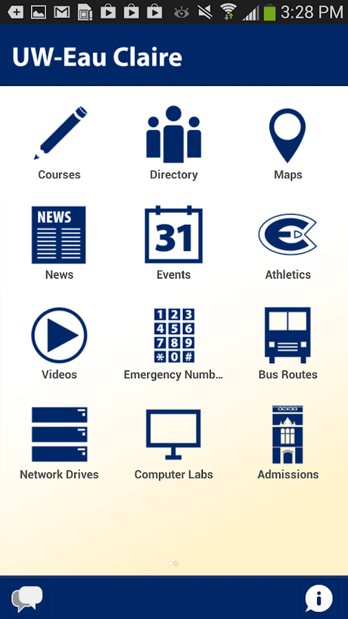 UW-Eau Claire Mobile- screenshot