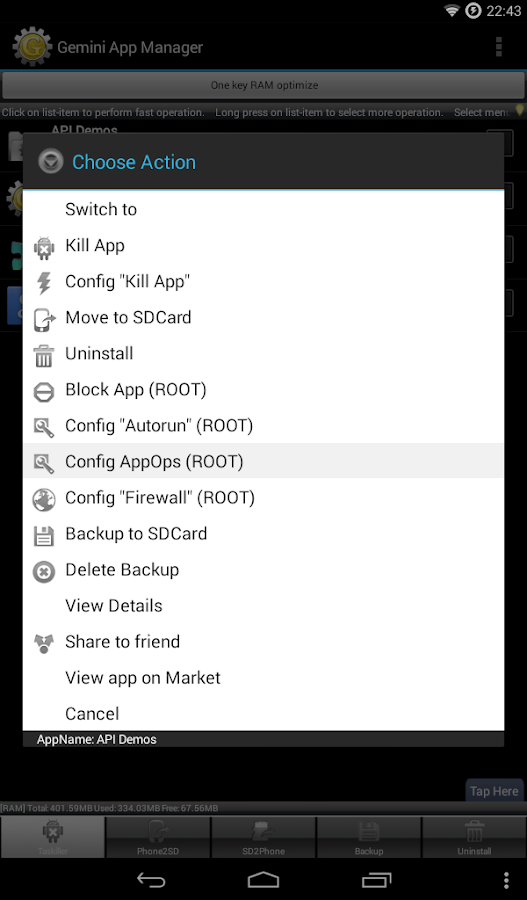 Gemini App Manager- screenshot