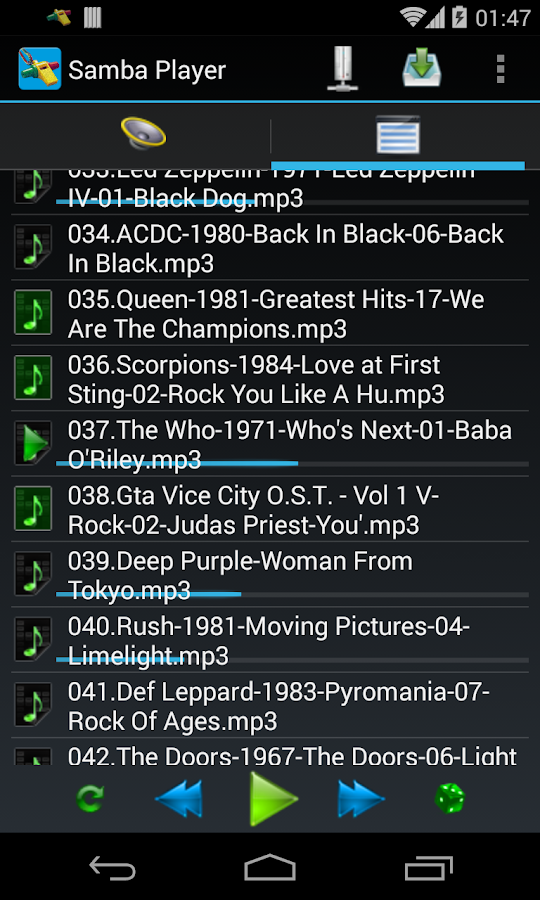 Samba Network Music Player - screenshot