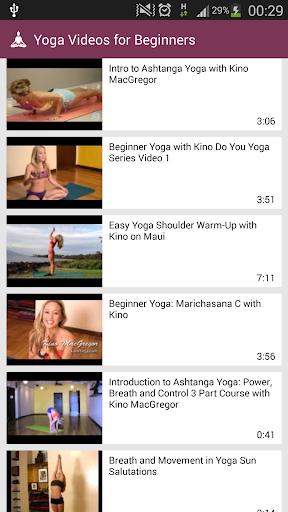 Yoga Videos for Beginners