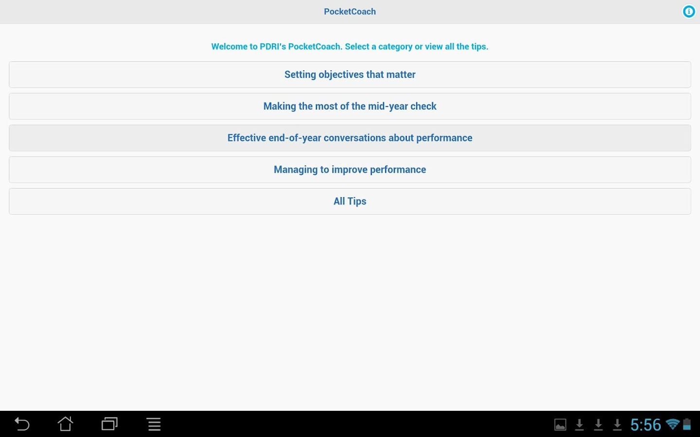 PerformanceFIT PocketCoach- screenshot