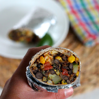 Black Bean and Quinoa Freezer Burritos.