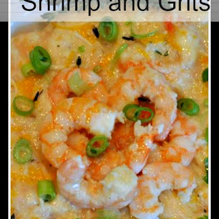 Slow Cooker Three Cheese Shrimp and Grits.