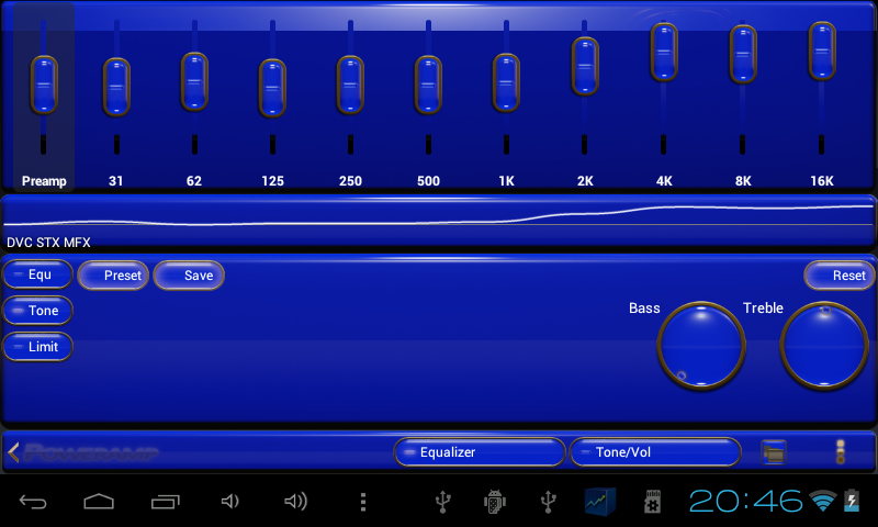 gold blue power amp skin - Android Apps on Google Play