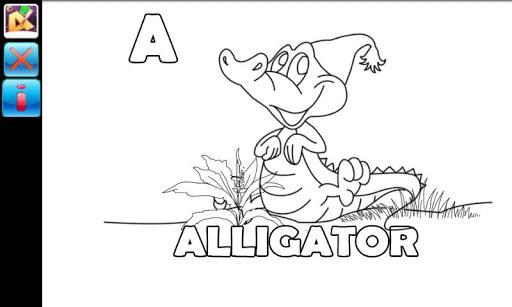 子供のためのアルファベットを描く