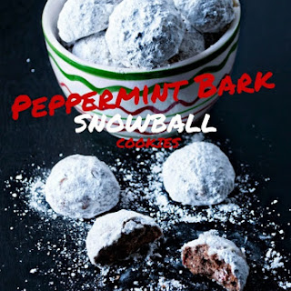 Peppermint Bark Snowball Cookies