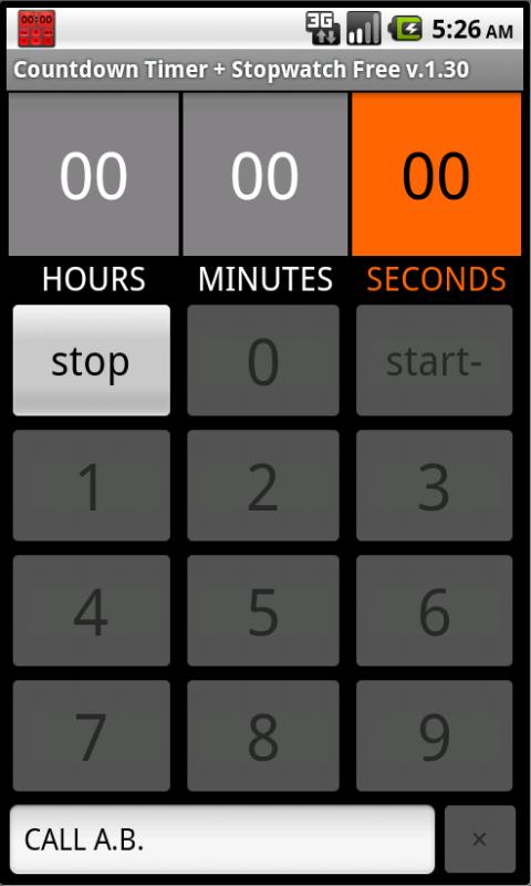 Countdown Timer + Stopwatch- screenshot