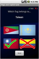 Screenshot of Flags and Capital Quiz