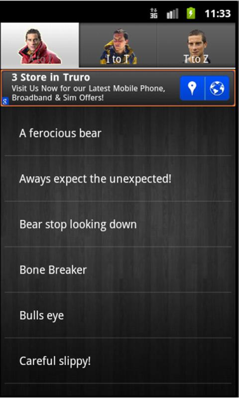 Bear Grylls Soundboard- screenshot