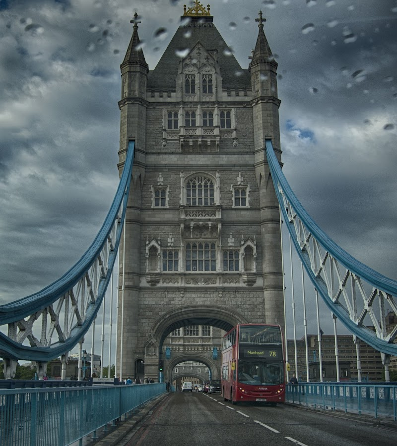 Tower Bridge in the Rain by Tracy Hughes - Buildings & Architecture Bridges & Suspended Structures (  )