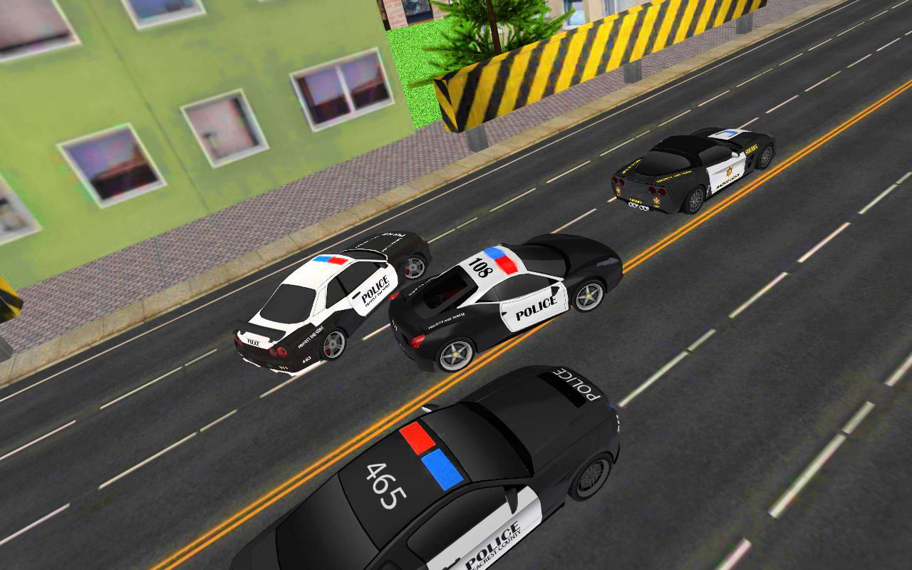 Police Car Racing 3D- screenshot