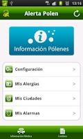 Screenshot of AlertaPolen