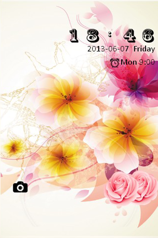 Flower Bliss S4 LOCK SCREEN - screenshot