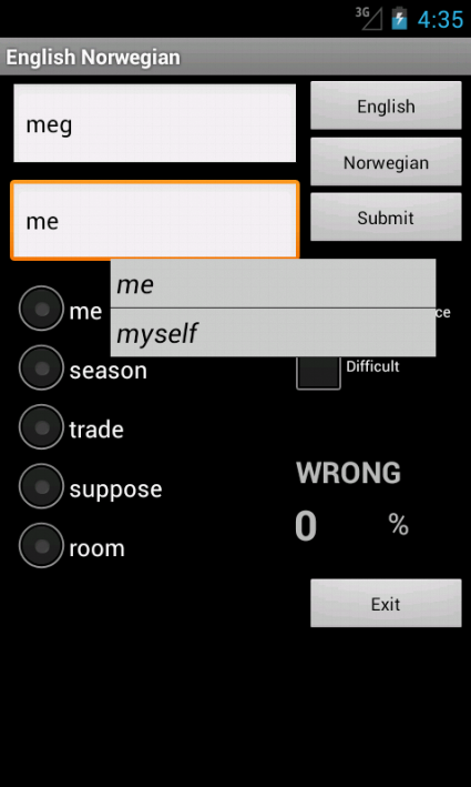 Learn English Norwegian - screenshot