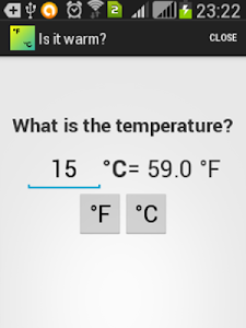 Celsius-Fahrenheit Temperature screenshot 1