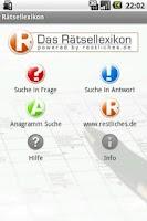 Screenshot of Das Rätsellexikon