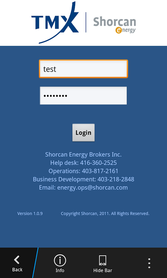 Shorcan Energy Trader- screenshot