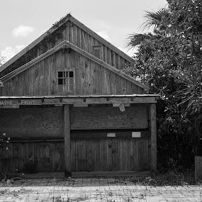 Fruit Stand by Steve Bales - Black & White Buildings & Architecture