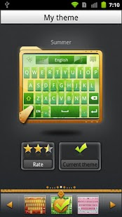 GO Keyboard Summer theme - screenshot thumbnail