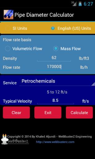 Pipe Diameter Calculator Free