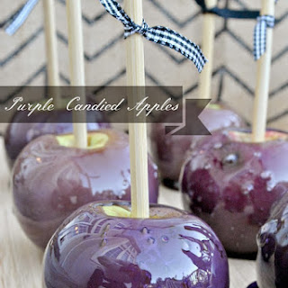 Puple Candied Apples with Tutorial.
