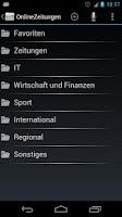 Screenshot of OnlineZeitungen Deutschland