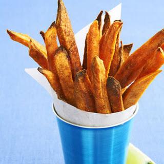 "Curried Sweet Potato ""Fries""."