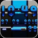 DIgi Clock Black Blue widget