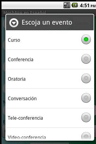 MoshApp en Español - screenshot