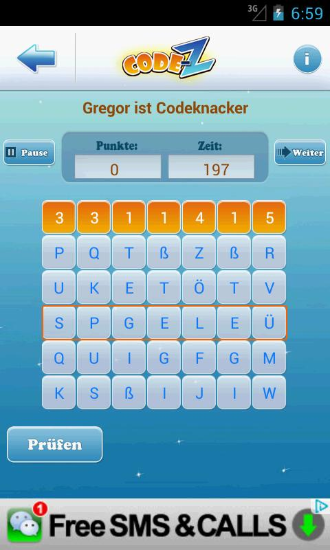 Code-Z: Wortspiel - Deutsch- screenshot