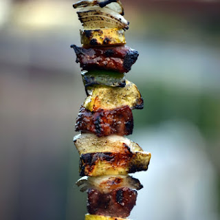 Italian Steak Kebabs.