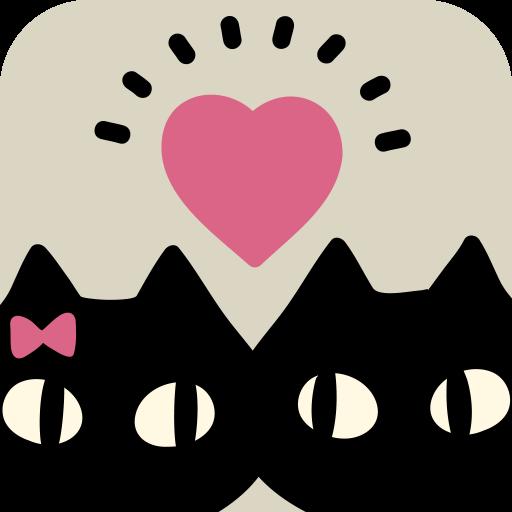 黒猫タロット-かわいい猫が恋愛や運命を告げる 無料占いアプリ LOGO-APP點子