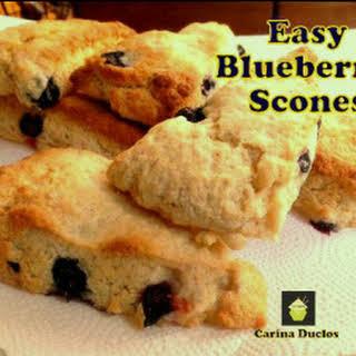 Easy Blueberry Scones.