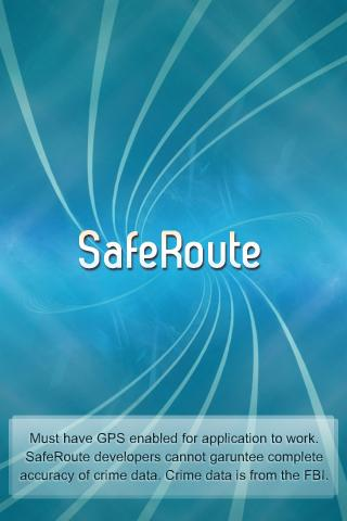 SafeRoute - screenshot