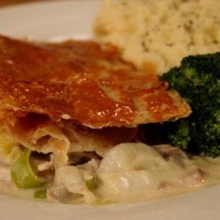 Turkey and Leek Pie.