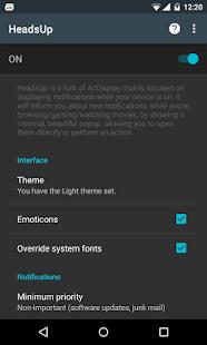HeadsUp Screenshot 2