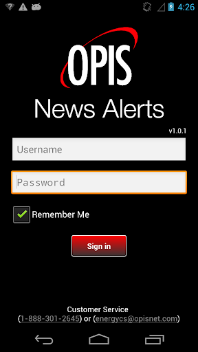 OPIS Mobile News Ticker