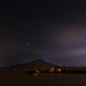 Stars Above by Adit Lal - Landscapes Starscapes ( exposure, star, night, trails, long )