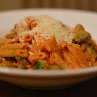 Tomato Ricotta Pasta with Broccoli.