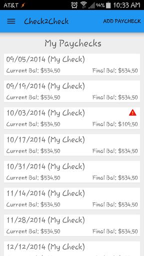 Check2Check Budget Utility