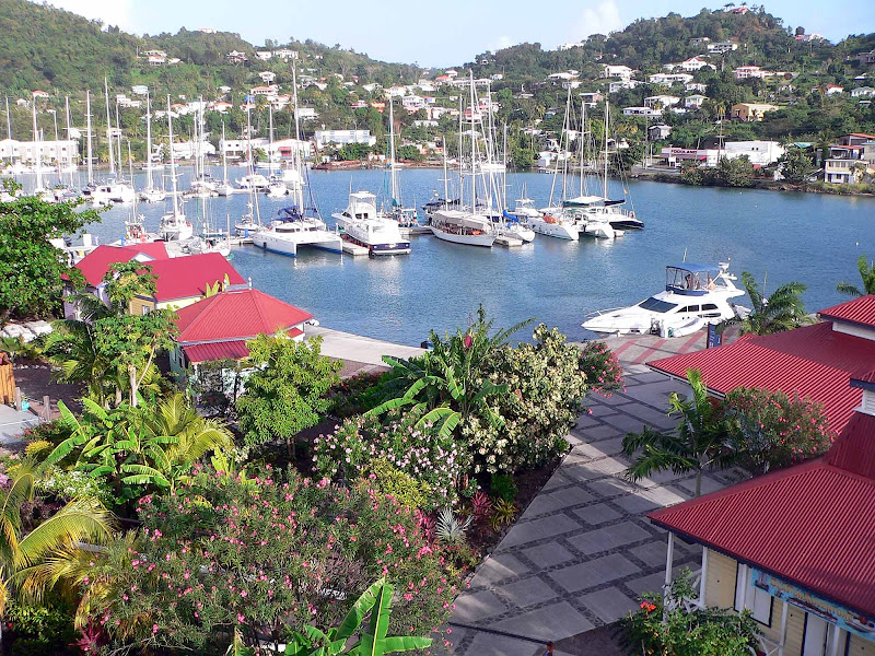 Port Louis Marina on the outskirts of the capital city St. George's in Grenada.
