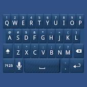 Blue Carbon Keyboard Skin