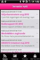 Screenshot of TNS SIFO Sweden