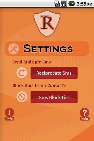 Sms Retaliator- screenshot