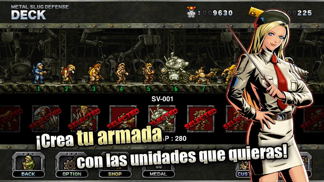 METAL SLUG DEFENSE: captura de pantalla